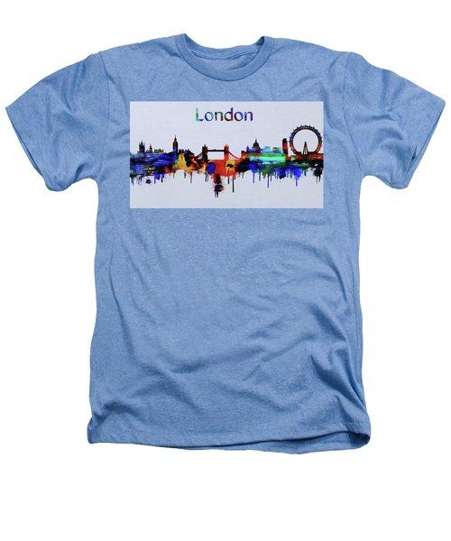 Colorful London Skyline Silhouette Heathers T-Shirt