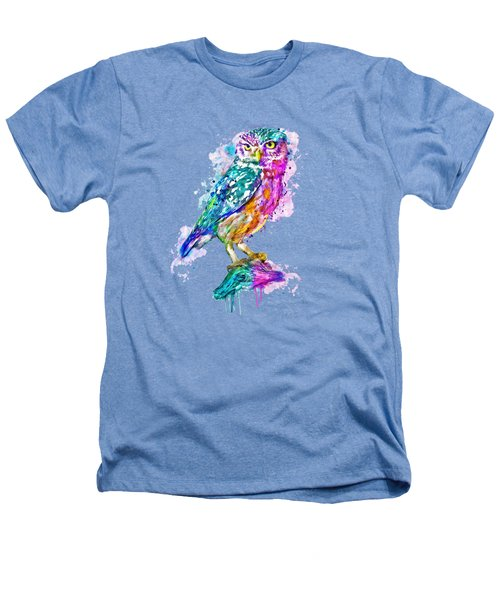 Colorful Owl Heathers T-Shirt by Marian Voicu