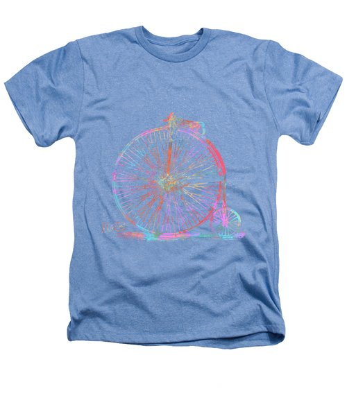 Colorful Penny-farthing 1867 High Wheeler Bicycle Heathers T-Shirt