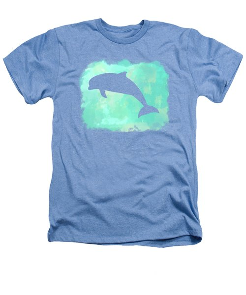 Colorful Watercolor Dolphin Sea Life Coastal Art Heathers T-Shirt