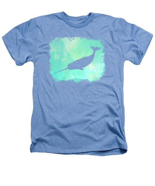 Colorful Watercolor Narwhal Sea Life Coastal Art Heathers T-Shirt