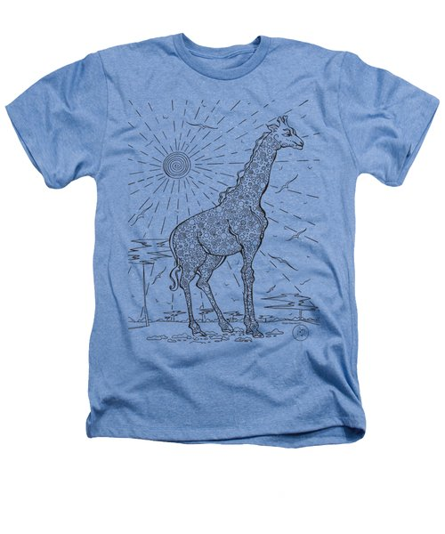 Coloring Page With Beautiful Giraffe Drawing By Megan Duncanson Heathers T-Shirt