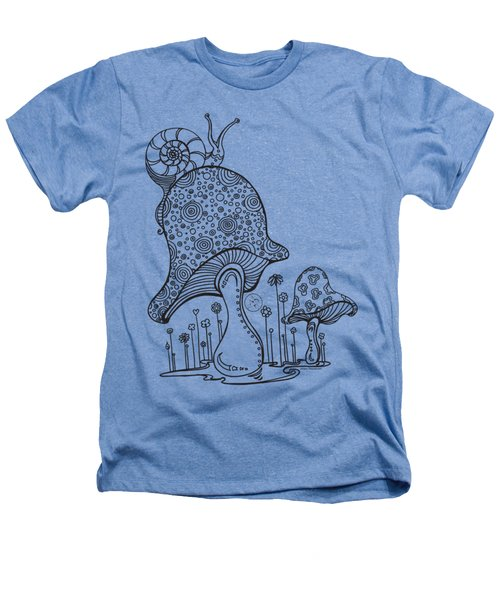 Coloring Page With Beautiful Mushroom And Snail Drawing By Megan Duncanson Heathers T-Shirt by Megan Duncanson