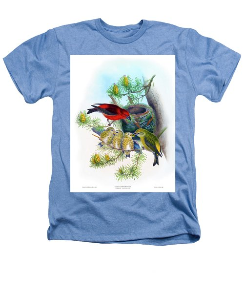 Common Crossbill Antique Bird Print John Gould Hc Richter Birds Of Great Britain  Heathers T-Shirt by Orchard Arts