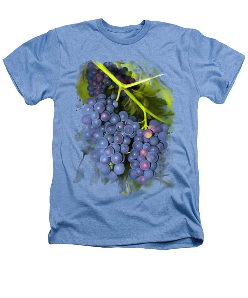 Concord Grape Heathers T-Shirt by Ivana Westin