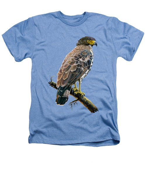 Congo Serpent Eagle Heathers T-Shirt by Anthony Mwangi