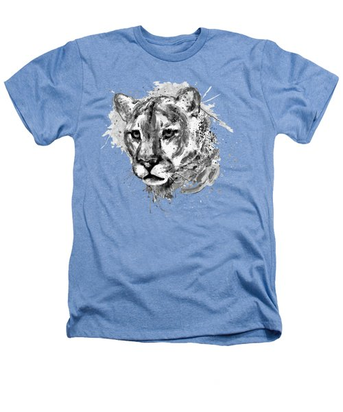 Cougar Head Black And White Heathers T-Shirt
