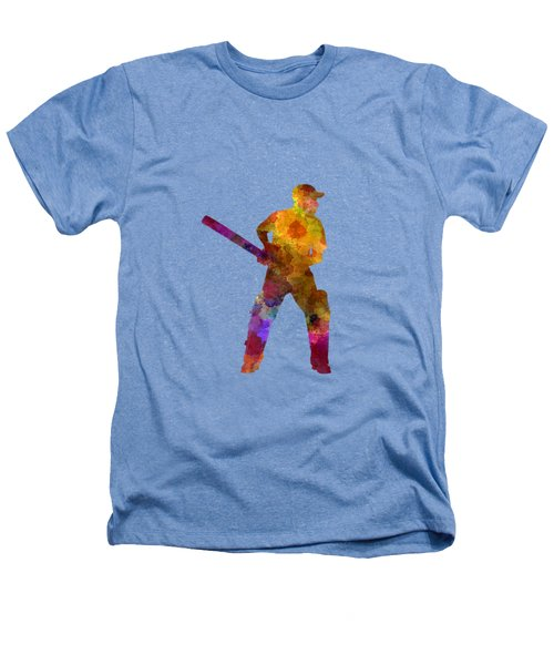 Cricket Player Batsman Silhouette 07 Heathers T-Shirt by Pablo Romero
