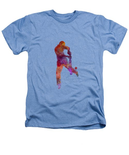 Cricket Player Batsman Silhoutte Heathers T-Shirt by Pablo Romero
