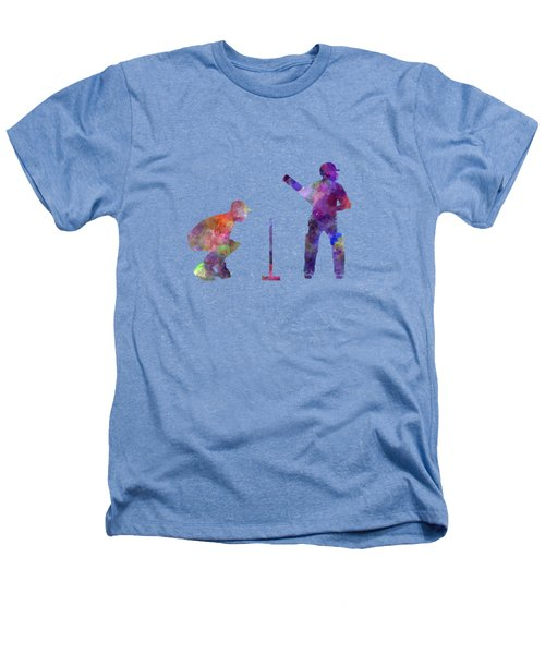 Cricket Player Silhouette Heathers T-Shirt by Pablo Romero