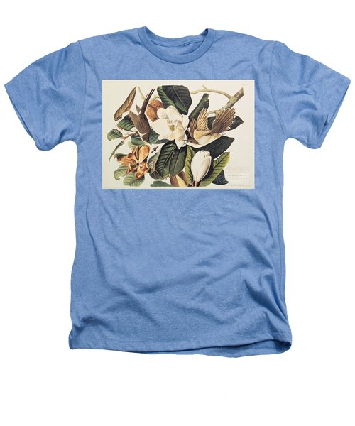 Cuckoo On Magnolia Grandiflora Heathers T-Shirt by John James Audubon