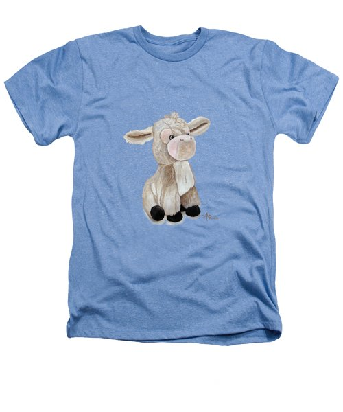 Cuddly Donkey Watercolor Heathers T-Shirt