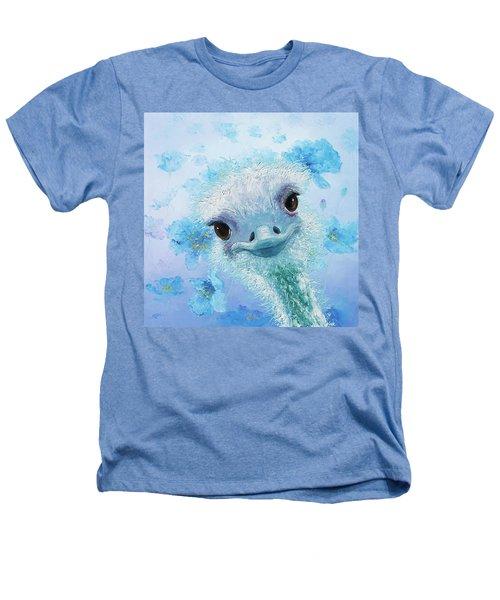 Curious Ostrich Heathers T-Shirt