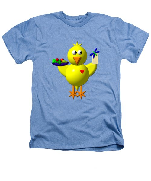 Cute Canary With Salad And Milk Heathers T-Shirt