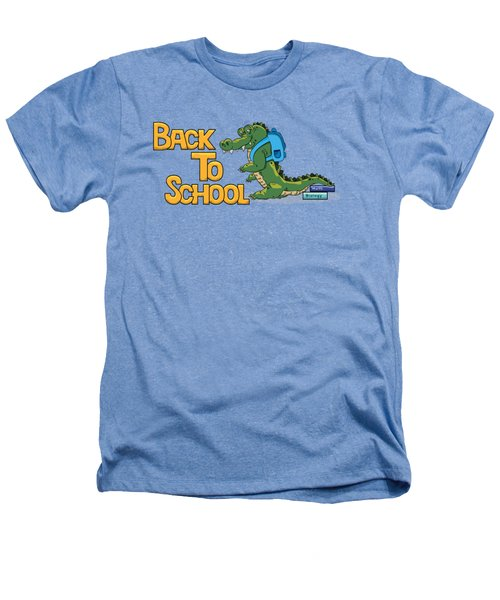Cute Crocodile With Briefcase Heathers T-Shirt