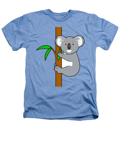 Koala With Eucalyptus Snack Heathers T-Shirt by A