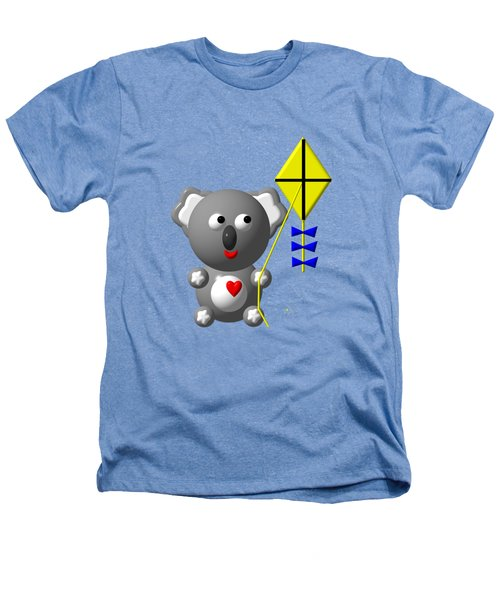 Cute Koala With Kite Heathers T-Shirt by Rose Santuci-Sofranko