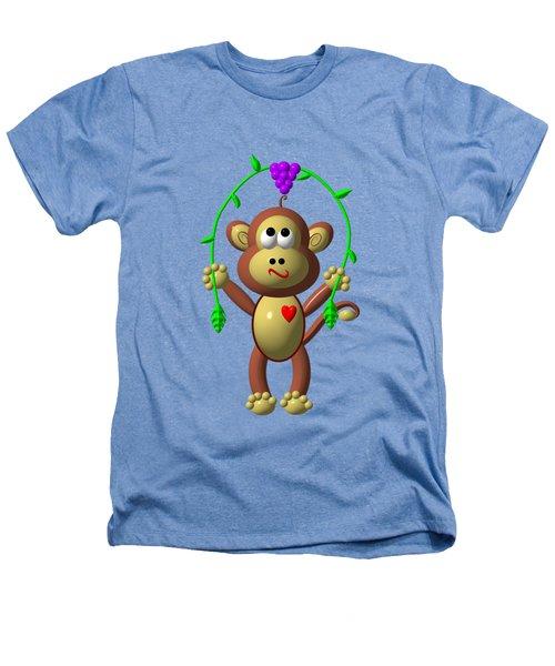 Cute Monkey Jumping Rope Heathers T-Shirt