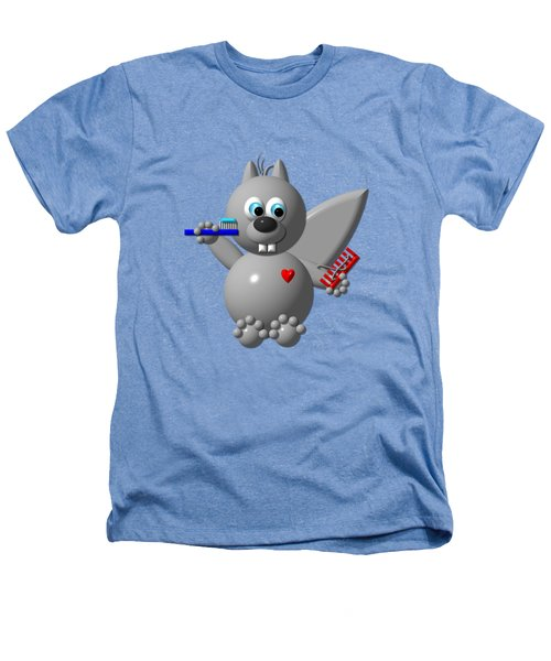 Cute Squirrel Brushing It's Hair And Teeth Heathers T-Shirt by Rose Santuci-Sofranko