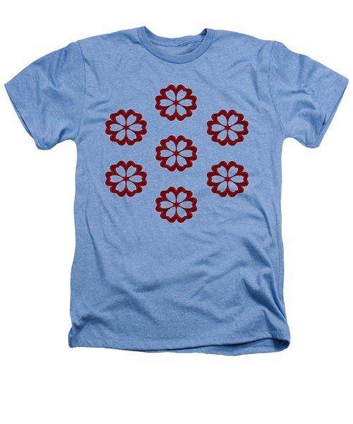 Cyber Flower Red Heathers T-Shirt by Daniel Hagerman