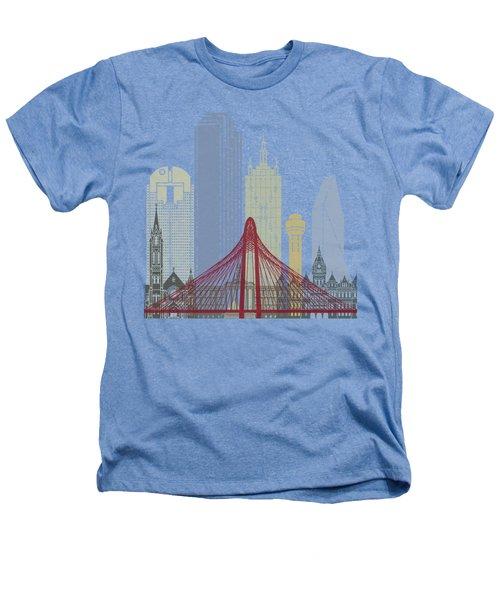 Dallas Skyline Poster Heathers T-Shirt by Pablo Romero
