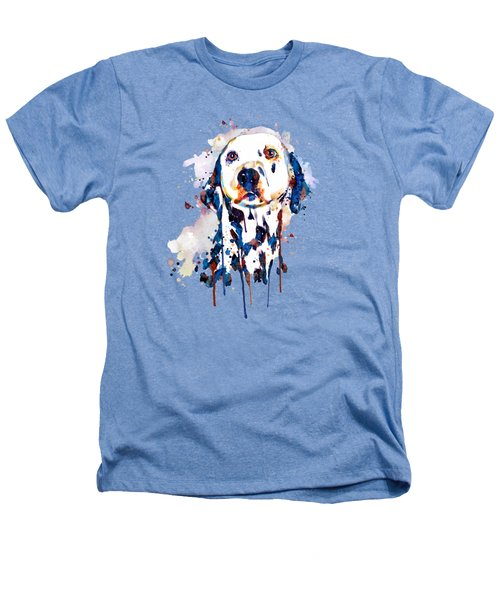 Dalmatian Head Heathers T-Shirt by Marian Voicu