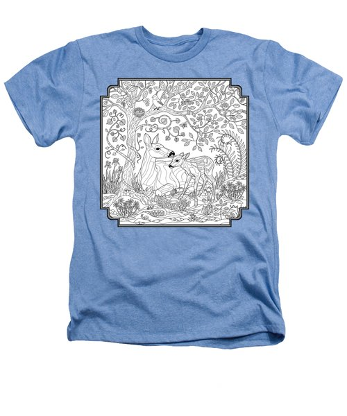 Deer Fantasy Forest Coloring Page Heathers T-Shirt by Crista Forest
