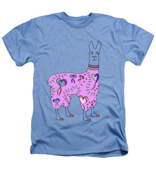 Difficult Llama Lavender Heathers T-Shirt by Sarah Rosedahl