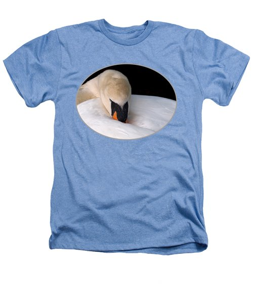 Do Not Disturb - Swan On Nest Heathers T-Shirt by Gill Billington