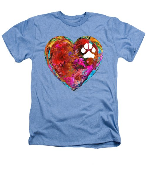 Dog Art - Puppy Love 2 - Sharon Cummings Heathers T-Shirt by Sharon Cummings