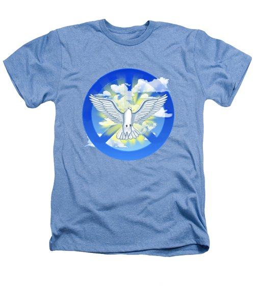 Dove Of Peace Heathers T-Shirt by Chris MacDonald