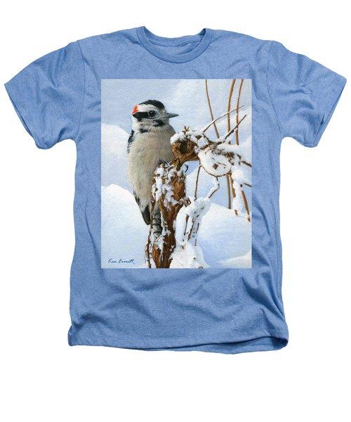 Downy Woodpecker  Heathers T-Shirt by Ken Everett