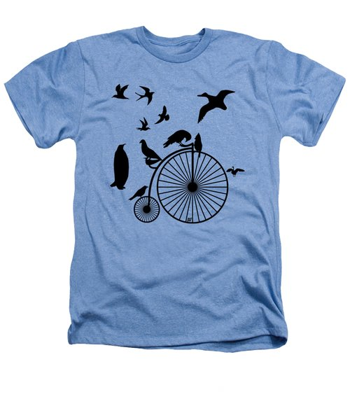 Dude The Birds Are Flocking Transparent Background Heathers T-Shirt
