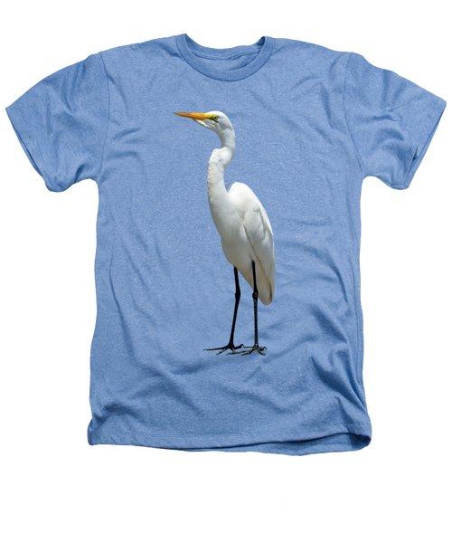 Eastern Great Egret Ardea Alba Modesta Heathers T-Shirt