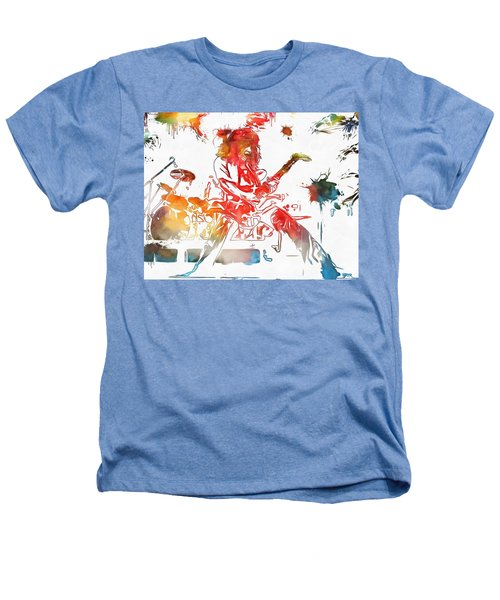 Eddie Van Halen Paint Splatter Heathers T-Shirt