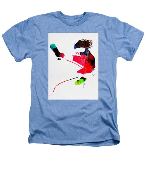 Eddie Watercolor Heathers T-Shirt by Naxart Studio