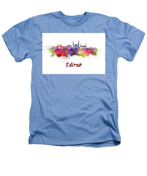 Edirne Skyline In Watercolor Heathers T-Shirt