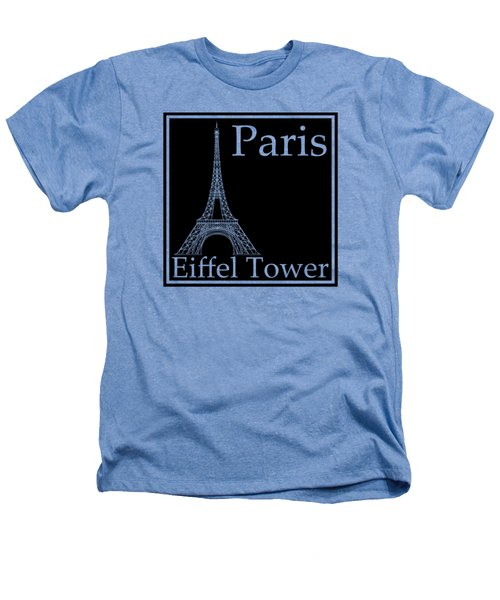 Eiffel Tower In Black Heathers T-Shirt by Custom Home Fashions