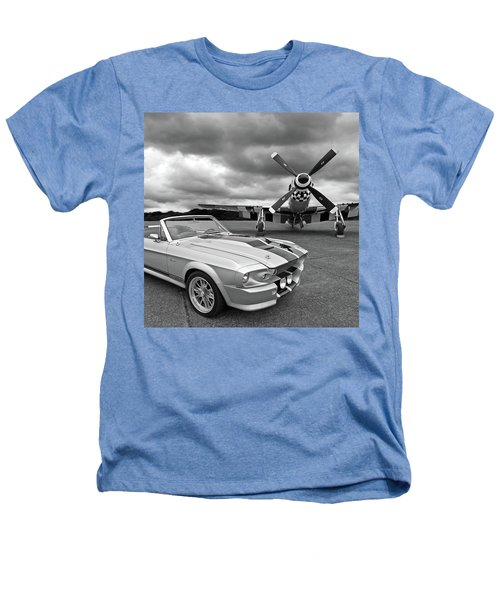 Eleanor Mustang With P51 Black And White Heathers T-Shirt