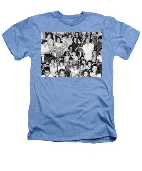 Eleanor Roosevelt And Children Heathers T-Shirt by Underwood Archives