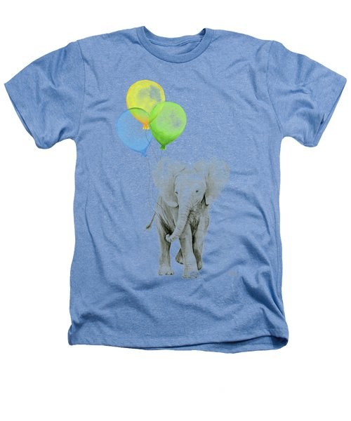 Elephant Watercolor Baby Animal Nursery Art Heathers T-Shirt