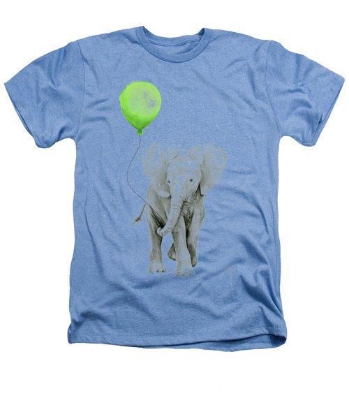Elephant Watercolor Green Balloon Kids Room Art  Heathers T-Shirt