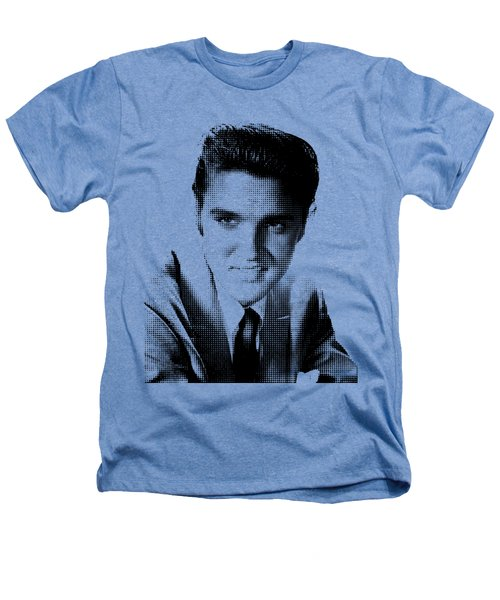 Elvis Dots Variant #01 Heathers T-Shirt by Mr Clever