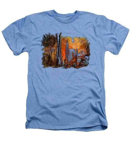 Empire State Reflections Earthy Rainbow 3 Dimensional Heathers T-Shirt by Di Designs