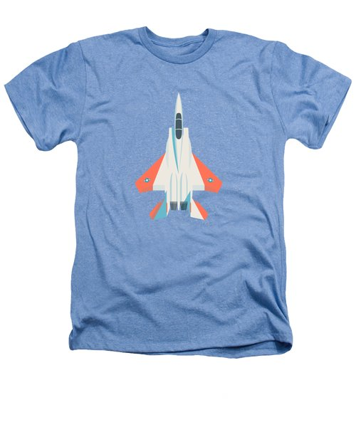 F15 Eagle Fighter Jet Aircraft - Test Sky Heathers T-Shirt