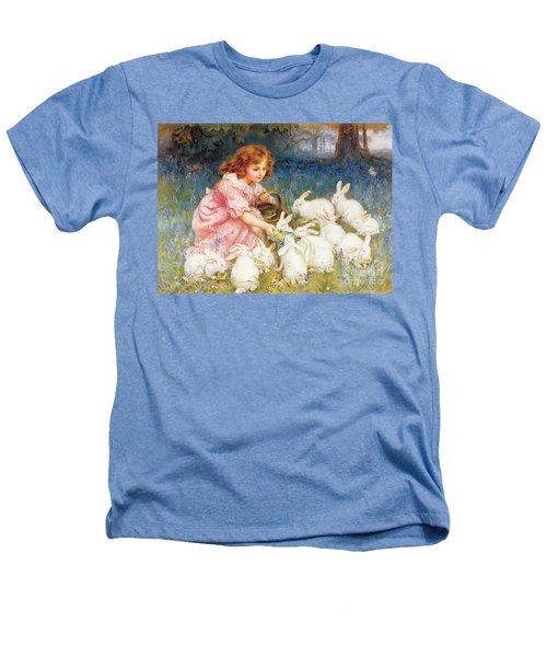 Feeding The Rabbits Heathers T-Shirt by Frederick Morgan