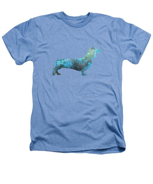 Female Dachsund In Watercolor Heathers T-Shirt