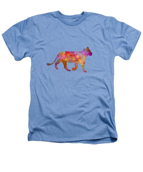 Female Lion 01 In Watercolor Heathers T-Shirt