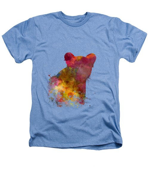 Female Lion 02 In Watercolor Heathers T-Shirt