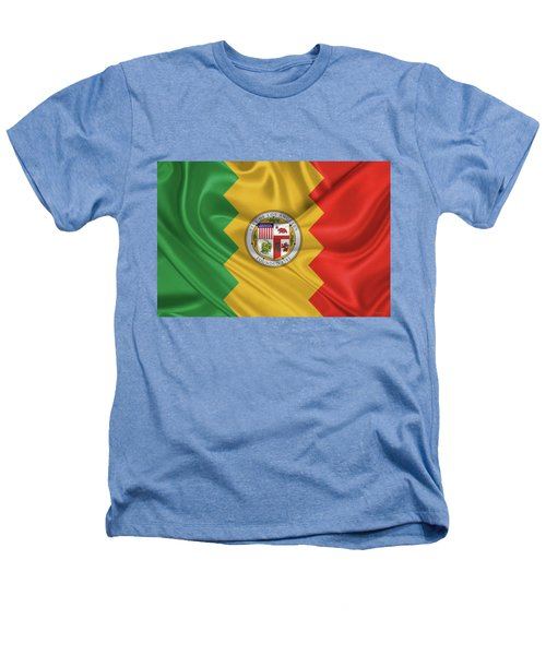 Flag Of The City Of Los Angeles Heathers T-Shirt by Serge Averbukh